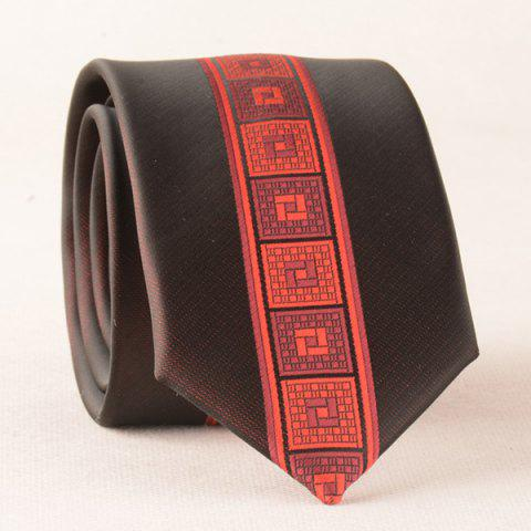 Latest Casual Geometry Plaid Texture Neck Tie