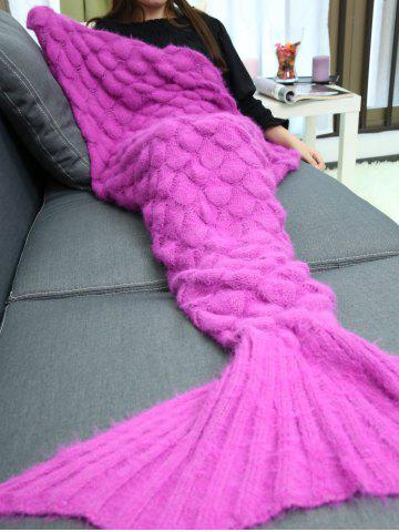 Shop Soft Knitted Throw Bed Wrap Mermaid Blanket - TUTTI FRUTTI  Mobile