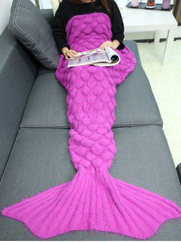 Online Soft Knitted Throw Bed Wrap Mermaid Blanket - TUTTI FRUTTI  Mobile