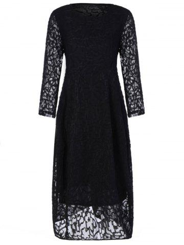 Sale Plus Size Long Sleeve Formal Party Dress with Lace