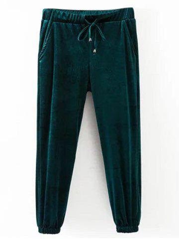 Discount Drawstring Velvet Casual Pants