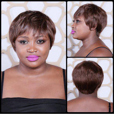 Outfit Short Mixed Color Full Bang Straight Synthetic Wig