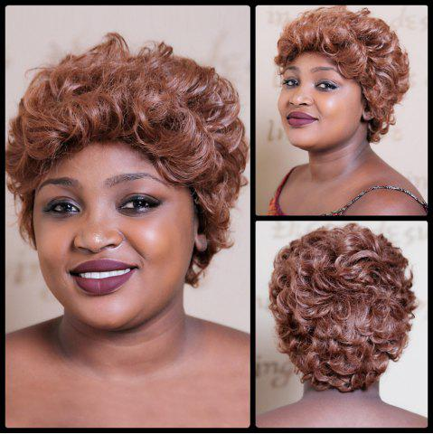 Fancy Short Towheaded Curly Synthetic Wig COLORMIX