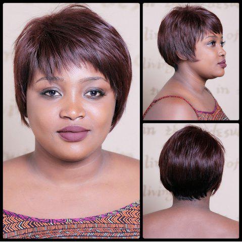 Shops Spiffy Short Double Color Neat Bang Straight Synthetic Wig COLORMIX