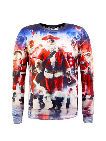 Online Santa Claus 3D Printed Christmas Sweatshirt COLORMIX 2XL