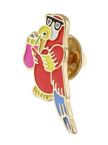 Fashion Bird Brooch - RED  Mobile