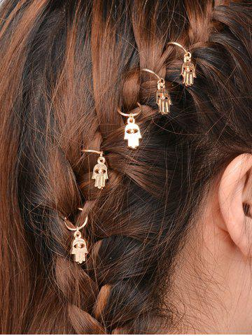 Hot 5 PCS Devil Eye Hand Hair Accessories GOLDEN