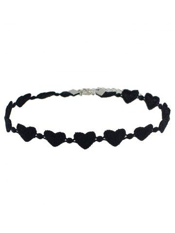 Latest Love Heart Lace Choker Necklace BLACK