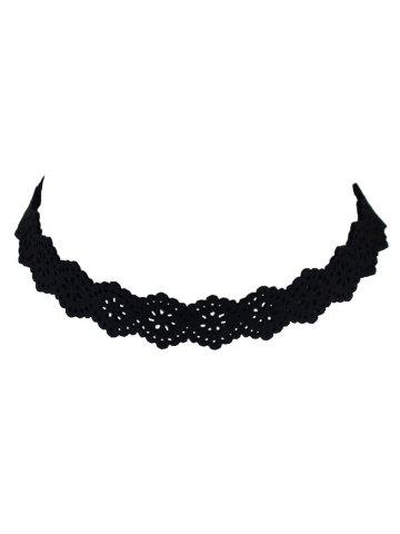 Cheap Floral Hollow Out Velvet Choker Necklace