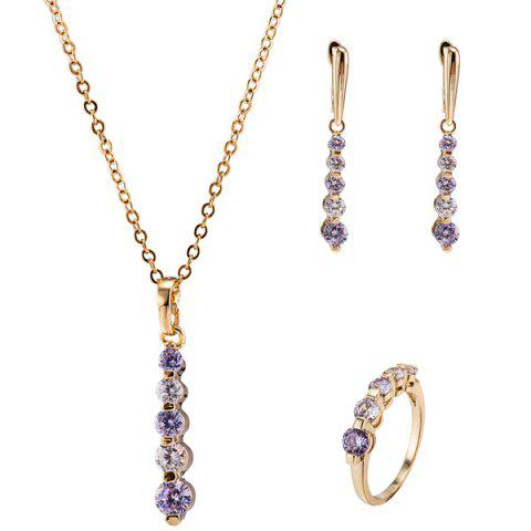 Latest Rhinestone Pendant Necklace Set