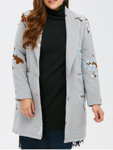 Store Woolen Flower Embroidered Coat