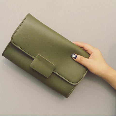 Discount Magnetic Closure Stitching PU Leather Clucth Bag