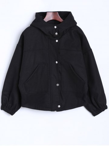 Discount High Neck Hooded Jacket