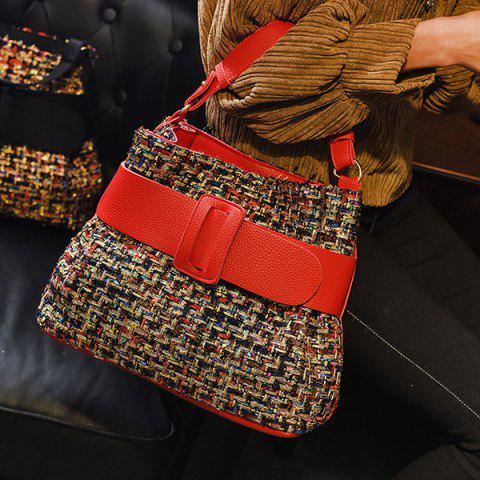 New Colour Spliced Metal Buckle Tote Bag