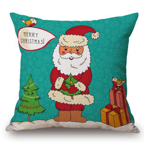 Affordable Holiday Santa Claus Printed Pillow Case COLORMIX