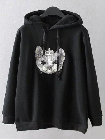 Latest Cartoon Embroidered String Hoodie