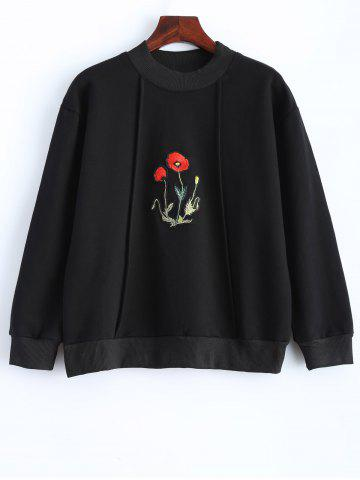 Shops Floral Embroidered Long Sleeve Hoodie