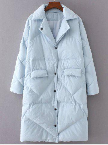 Store Quilted Button Up Coat