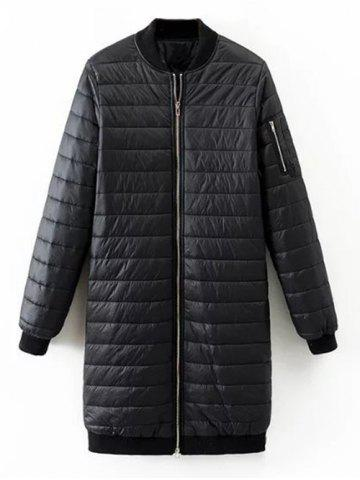 Outfits Quilted Zip Up Coat
