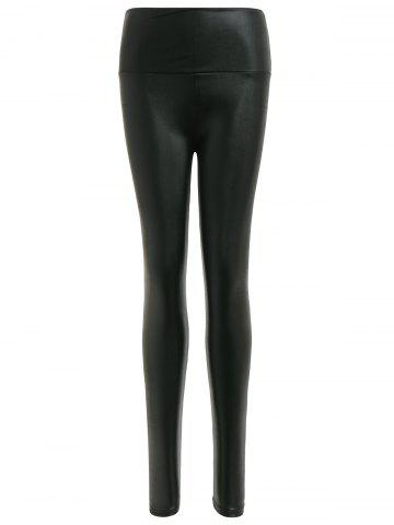 Buy Stretchy PU Leather Leggings