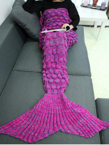 Outfits Knitting Fish Scales Design Mermaid Tail Style Blanket