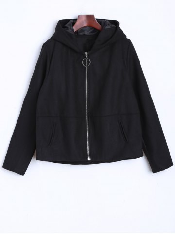 New Thin  Pocket Jacket With Ear Hooded