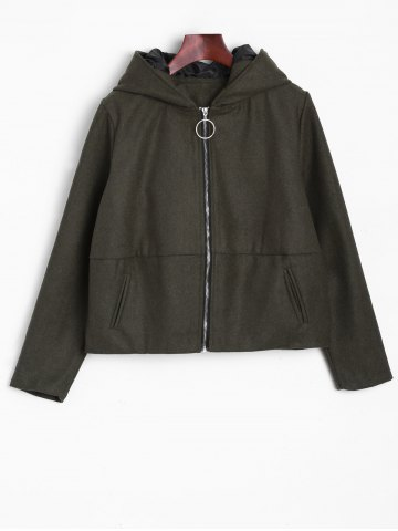 Outfit Ears Hooded Bomber Jacket