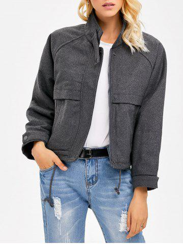 Affordable Stand Collar String  Jacket