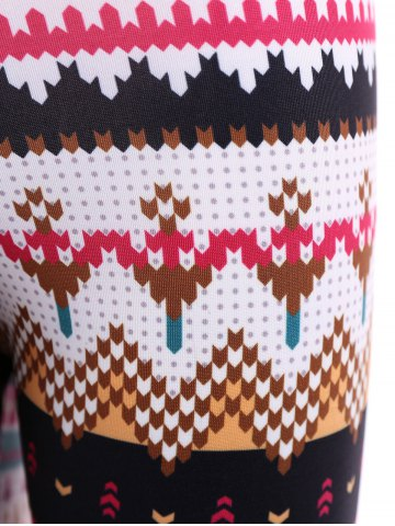 Outfits Tight Christmas Print Leggings - XL COLORMIX Mobile