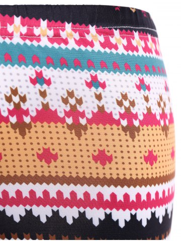 New Tight Christmas Print Leggings - M COLORMIX Mobile