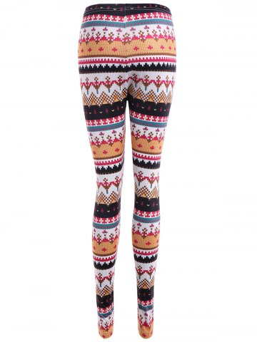 Outfits Tight Christmas Print Leggings - S COLORMIX Mobile