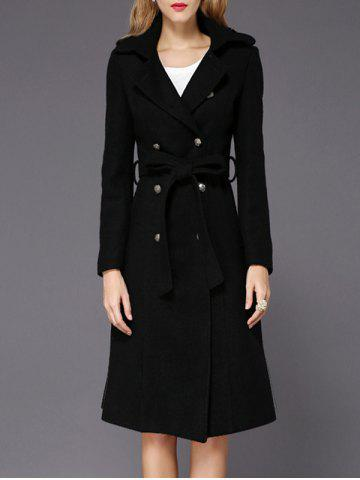 New Wool A Line Long Peacoat