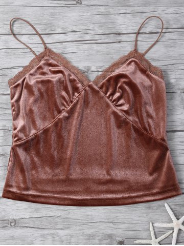 Outfits Velvet Cami Top COFFEE S