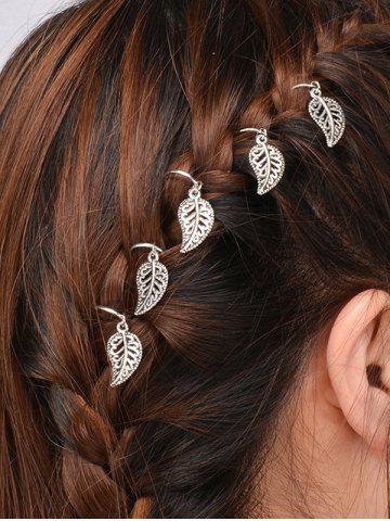 Sale 5 PCS Leaves Hair Accessory - SILVER  Mobile