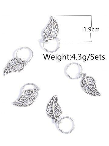Store 5 PCS Leaves Hair Accessory - SILVER  Mobile