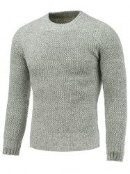 Crew Neck Heather Tweed Pullover Sweater