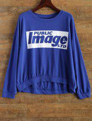 Letter Casual Loose T-Shirt -