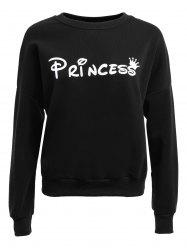 Long Sleeve Loose Fitted Letter Pattern Sweatshirt -