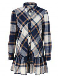 Plaid Flounced Shirt