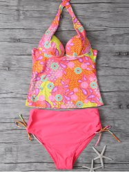 Halter Paisley Padded Push Up Underwire Tankini