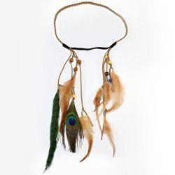 Bohemian Style Feather Braid Hair Accessory For Women -