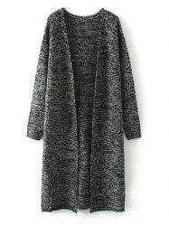 Marled Pocket Long Cardigan -
