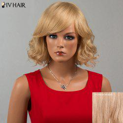 Siv Hair Short Oblique Bang Wavy Human Hair Wig