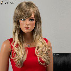 Siv Hair Long Side Bang Wavy Human Hair Wig