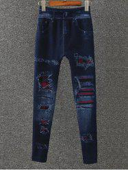 Totem Pattern Fleece Jeggings