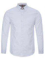 Back Pleat Single Pocket Button Up Shirt -
