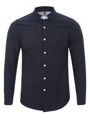 Back Pleat Single Pocket Button Up Shirt