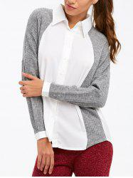 Patchwork Button Up Casual Shirt
