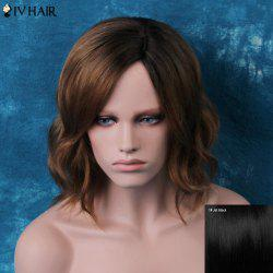 Siv Short Shaggy Side Parting Wavy Human Hair Wig