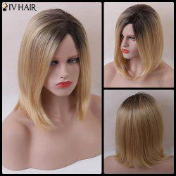 Siv Short Bob Shaggy Side Parting Straight Human Hair Wig -